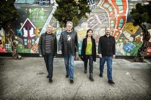 Kronos Quartet in motion