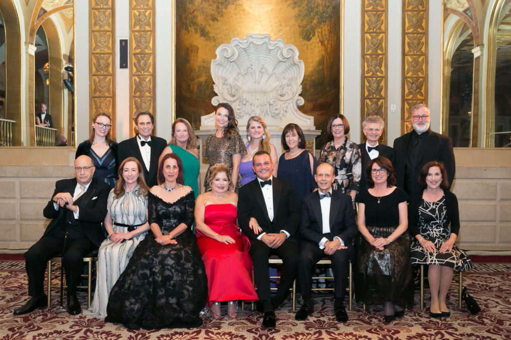 The Drama League Board of Directors with Gala Honoree Sutton Foster